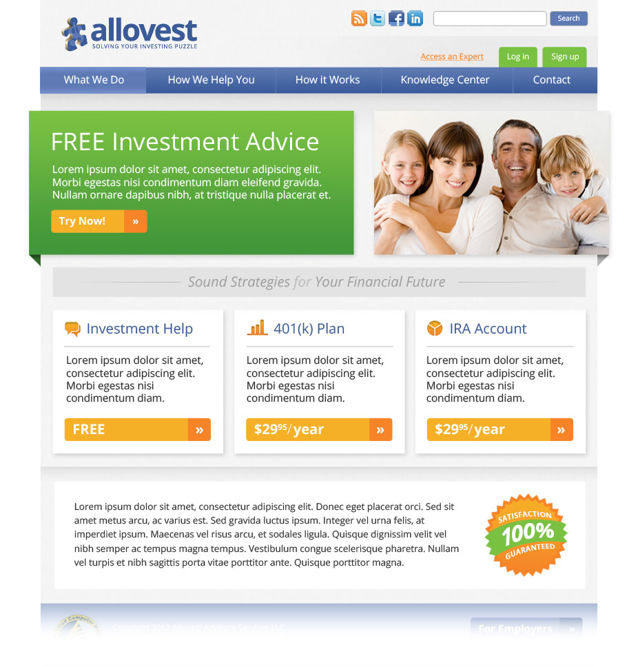 Allovest Home Page