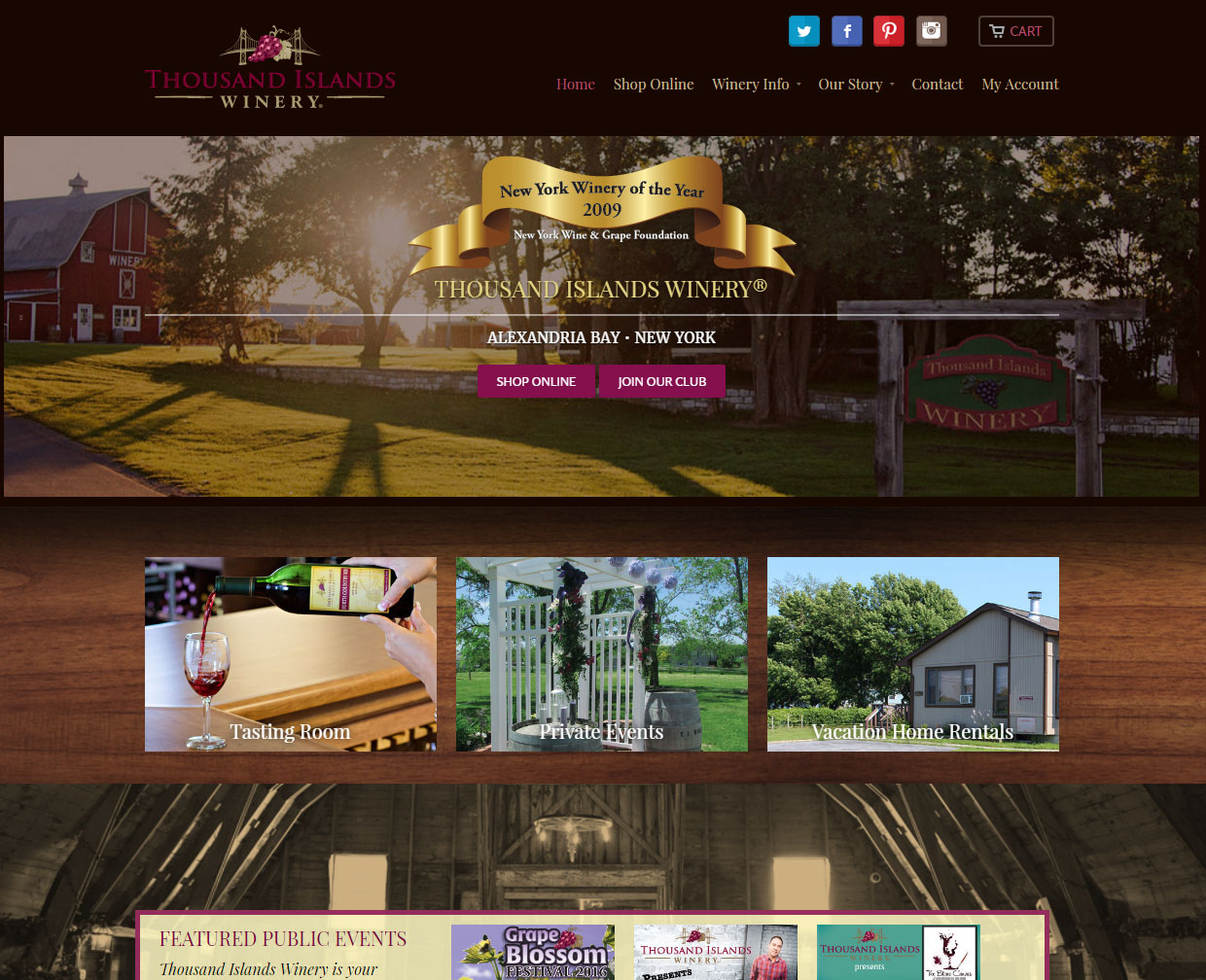 Thousand Islands Winery Home Page
